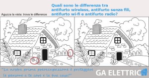 Trova le differenze tra antifurti wireless, wi-fi, radio